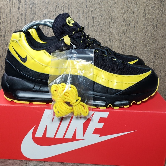 47b9094489 Nike Shoes | Air Max 95 Frequency Pack Black Tour Yellow | Poshmark